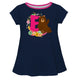 Bear Initial and Name Navy Short Sleeve Laurie Top - Wimziy&Co.