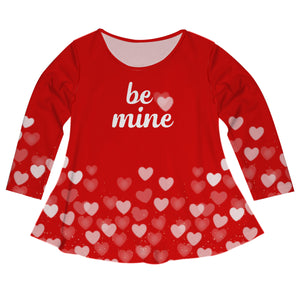 Be Mine Red Long Sleeve Laurie Top - Wimziy&Co.