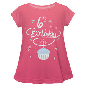 Pink short sleeve birthday blouse with age - Wimziy&Co.