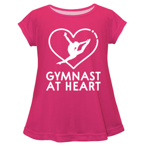 Gymnast At Heart Pink Short Sleeve Laurie Top - Wimziy&Co.