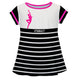 Gymnast Stripe White and Black Short Sleeve Laurie Top - Wimziy&Co.