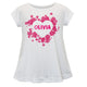 Heart Name White Short Sleeve Laurie Top - Wimziy&Co.