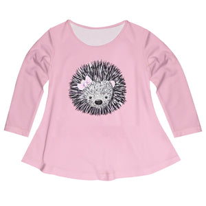 Hedgehog Name Pink Long Sleeve Laurie Top - Wimziy&Co.