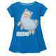 Blue and white cute llama girls blouse with name - Wimziy&Co.