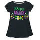 Happy Mardi Gras Black Short Sleeve Laurie Top - Wimziy&Co.