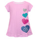 Hearts Monogram Pink Short Sleeve Laurie Top - Wimziy&Co.