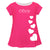 Hearts Name Hot Pink Short Sleeve Laurie Top - Wimziy&Co.