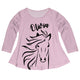 Light pink long sleeve blouse with horse and name - Wimziy&Co.