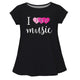 I love Music Black Short Sleeve Laurie Top - Wimziy&Co.