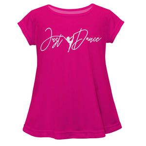 Hot pink 'Just Dance' short sleve girls blouse - Wimziy&Co.