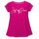 Hot pink 'Just Dance' short sleve girls blouse