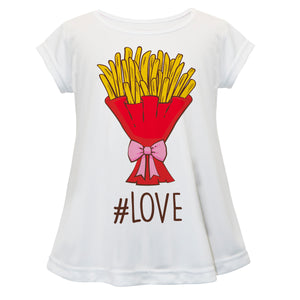 French Fries Love White Short Sleeve Laurie Top - Wimziy&Co.
