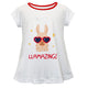 White and red llamazing girls blouse with name