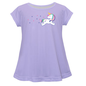 Unicorn Name Purple Short Sleeve Laurie Top - Wimziy&Co.