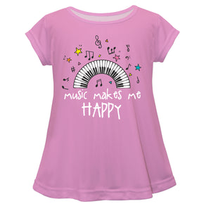 Music Makes Me Happy Pink Laurie Top - Wimziy&Co.