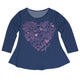 Hearts Name Navy Long Sleeve Laurie Top - Wimziy&Co.