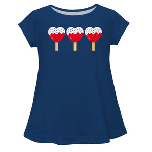 Popsicles Name Navy Short Sleeve Laurie Top - Wimziy&Co.