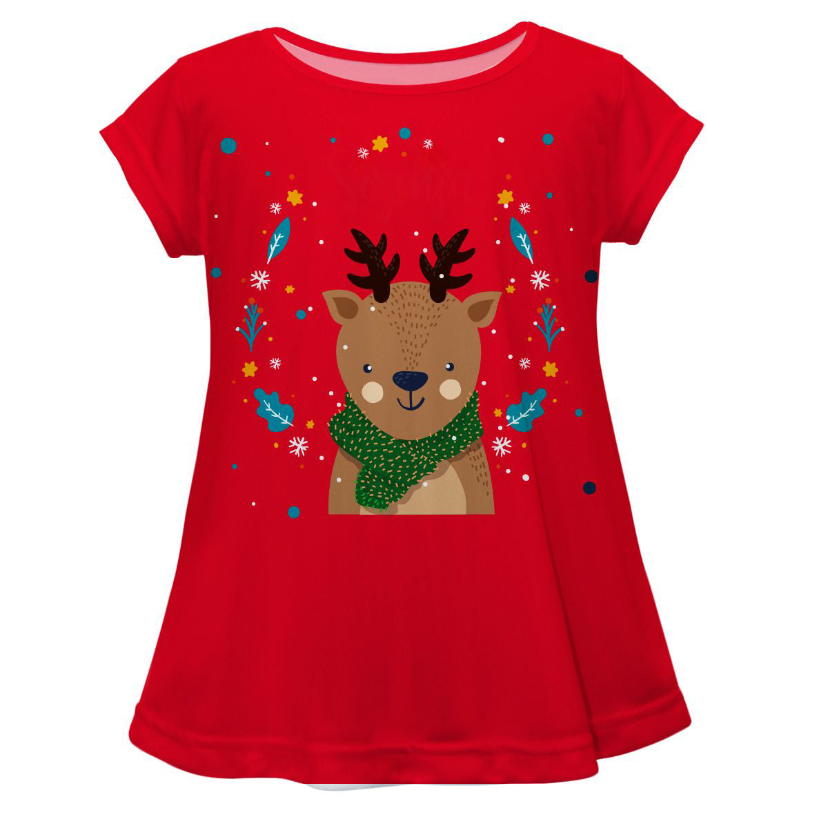 Reindeers Name Red Short Sleeve Laurie Top - Wimziy&Co.