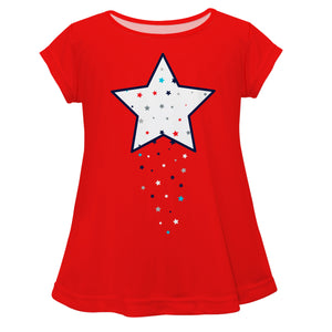 Star Red Short Sleeve Laurie Top - Wimziy&Co.
