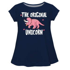 The Original Unicorn Navy Short Sleeve Laurie Top - Wimziy&Co.