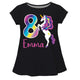 Unicorn Your Age and Name Black Short Sleeve Laurie Top - Wimziy&Co.