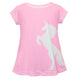 Pink and white unicorn silhouette girls blouse - Wimziy&Co.