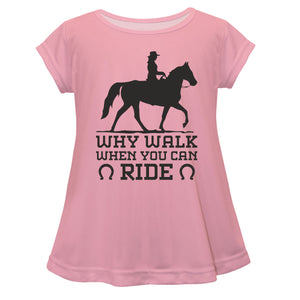 Light pink short sleeve equestrian blouse - Wimziy&Co.