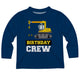 Long sleeve birthday crew boys blue tee shirt - Wimziy&Co.
