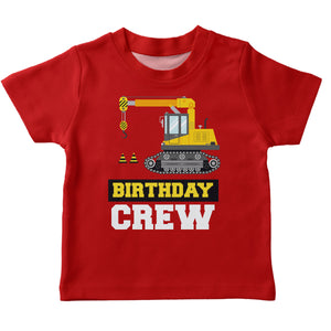 Red birthday crew short sleeve boys tee shirt - Wimziy&Co.