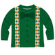 Bow Tie and Suspenders Green Long Sleeve Tee Shirt - Wimziy&Co.