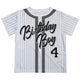 Birthday boy and age white short sleeve tee shirt - Wimziy&Co.