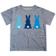 Bunny Name Gray Short Sleeve Tee Shirt - Wimziy&Co.