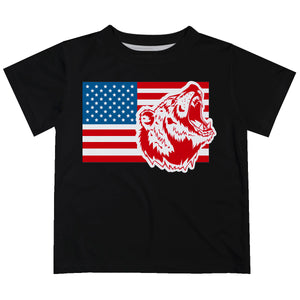 Boys US Flag and white bear short sleeve tee shirt - Wimziy&Co.