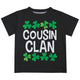 Cousin Clan Black Short Sleeve Tee Shirt - Wimziy&Co.