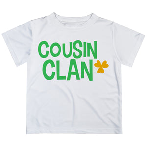 Cousin Clan White Short Sleeve Tee Shirt - Wimziy&Co.