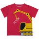 Crane Name Red Short Sleeve Tee Shirt - Wimziy&Co.