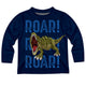 Dinosaur Roar Navy Long Sleeve Tee Shirt - Wimziy&Co.