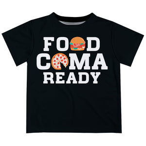 Food Coma Ready Black Short Sleeve Tee Shirt - Wimziy&Co.