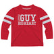 Little Guy Big Heart Red Long Sleeve Boys Tee Shirt - Wimziy&Co.