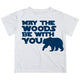 Boys white and navy may the woods be with you short sleeve tee shirt