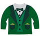 St Patrick Dress Suit Dark Green Long Sleeve Tee Shirt - Wimziy&Co.