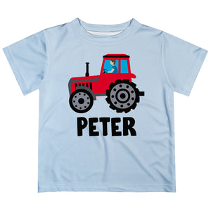 White short sleeve tee shirt with tractor and name - Wimziy&Co.
