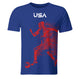 USA Soccer Player Blue Short Sleeve Tee Shirt - Wimziy&Co.