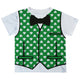 Vest and Clover Print White Green Short Sleeve Tee Shirt - Wimziy&Co.