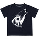 Boys black and white wolf short sleeve tee shirt - Wimziy&Co.