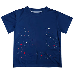 Navy short sleeve boys tee shirt with name and age - Wimziy&Co.
