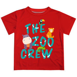Zoo Crew Red Short Sleeve Sleeve Boys Tee Shirt