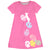 Bunny And Easter Eggs Name Pink Short Sleeve A Line Dress