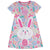 Happy Bunny Monogram Purple  Short Sleeve A Line Dress