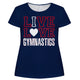 Navy 'I love gymnastics' girls blouse - Wimziy&Co.
